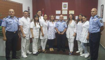 EL DEPARTAMENTO DE IDENTIFICACIONES RECIBIÓ LA VISITA DE PERSONAL DE SANIDAD DEL HOSPITAL RIGOBERTO CABALLERO