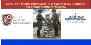 Conmemoración 83 Aniversario a los Héroes que defendieron nuestra patria
