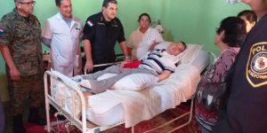 COMANDO INSTITUCIONAL SE SOLIDARIZA CON PERSONAL POLICIAL VÍCTIMAS DEL EPP Y VISITA A MADRE DE EDELIO MORINIGO