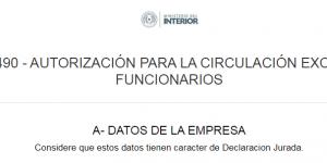 DECRETO 3490 – AUTORIZACIÓN PARA LA CIRCULACIÓN EXCEPCIONAL DE FUNCIONARIOS