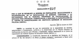 Resolución N° 829