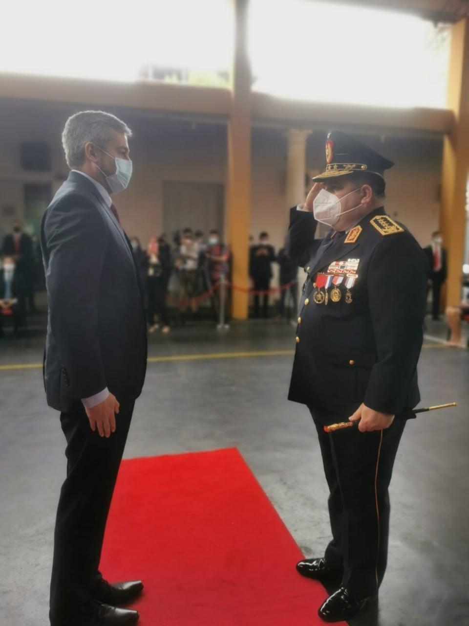 Ceremonia de Imposición de Presillas al Señor Comandante de la Policía Nacional del Paraguay.